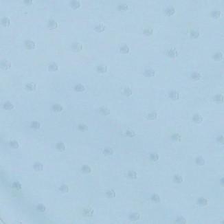 Couverture ouatinée 80x70 RED CASTLE Pois velours Gris Perle