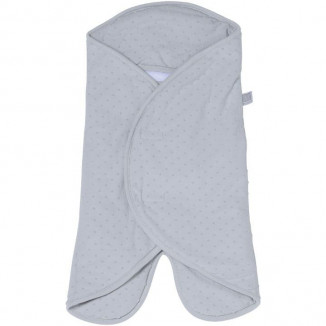Babynomade T1 ouatiné RED CASTLE Pois velours Gris/Perle