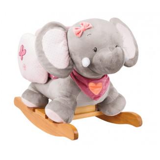 Bascule éléphant rose NATTOU Adèle & Valentine