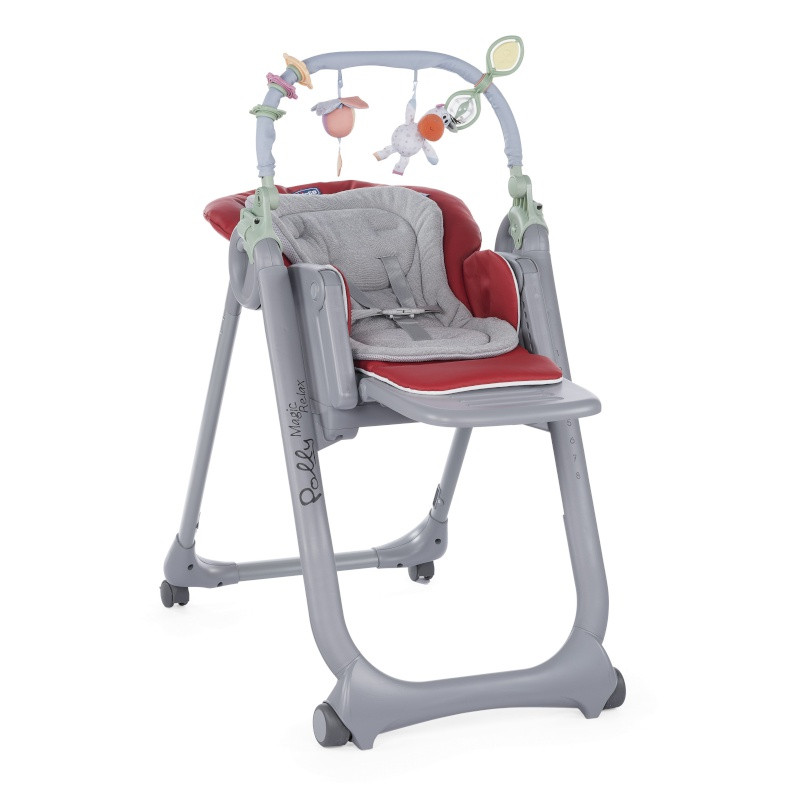 Chaise Haute Polly Magic Relax CHICCO Rouge