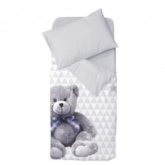 Housse de couette + taie oreiller 100x140 DOMIVA My Little Bear