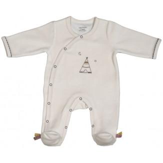 Pyjama beige naissance SAUTHON Timouki