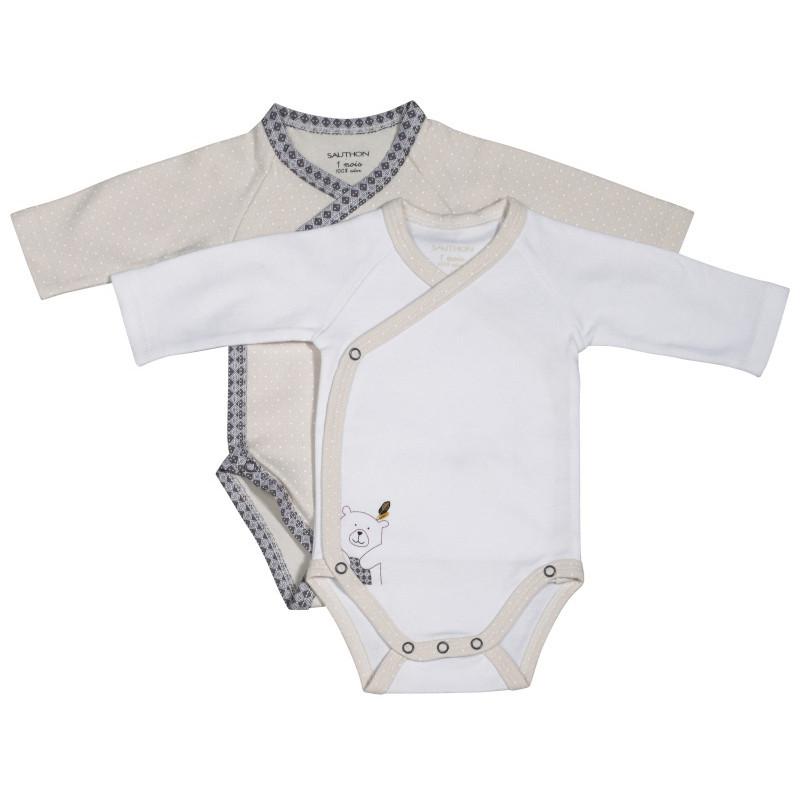 Lot de 2 bodies naissance SAUTHON Timouki - Babydrive 569906c0875
