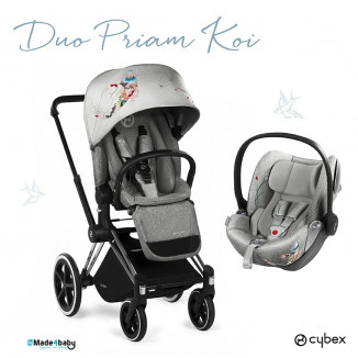 Poussette Duo Priam Luxe tout-terrain et Gr0+ Cloud Q CYBEX Koi