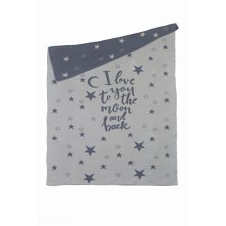 Couverture de berceau Tricot 80x100 PERICLES Star