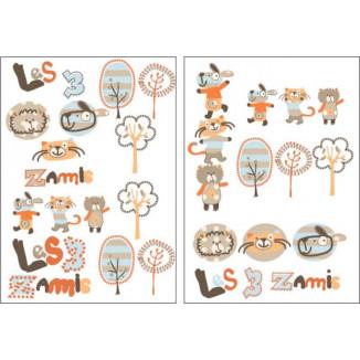 Stickers LES CHATOUNETS Les 3 z'amis
