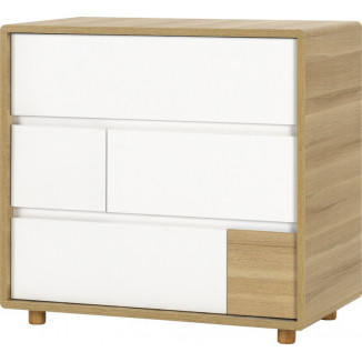Commode 3tiroirs VOX Evolve White