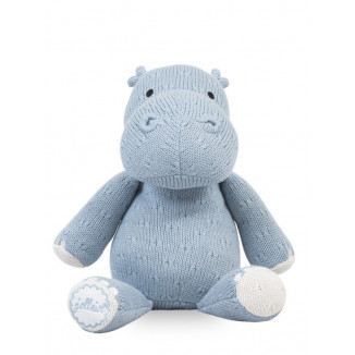 Nounours Hippo Soft Knit JOLLEIN Soft Blue