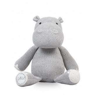Nounours Hippo Soft Knit JOLLEIN Gris/Ciel