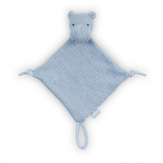 Doudou Hippo Soft Knit  JOLLEIN Soft Blue