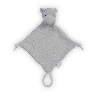Doudou Hippo Soft Knit  JOLLEIN Gris Ciel