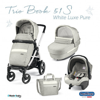 Pack Trio Book 51S Complet White PEG PEREGO Luxe Pure