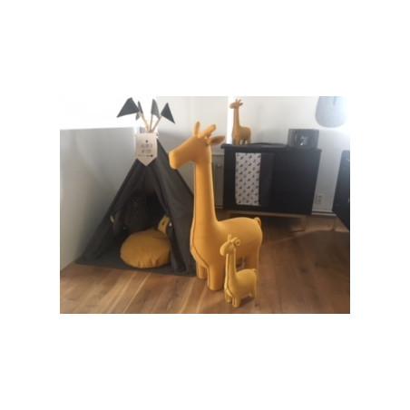 Peluche Girafe Large PÉRICLÈS Jaune