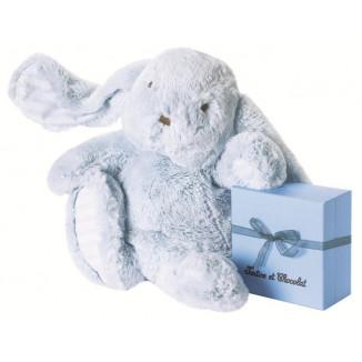 Peluche lapin 35cm bleu ciel TARTINE ET CHOCOLAT
