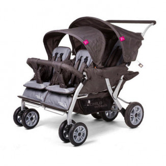 Poussette Quadruple CHILDWHEELS Grise