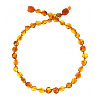 Collier enfant billes cognac BALTIC WAY