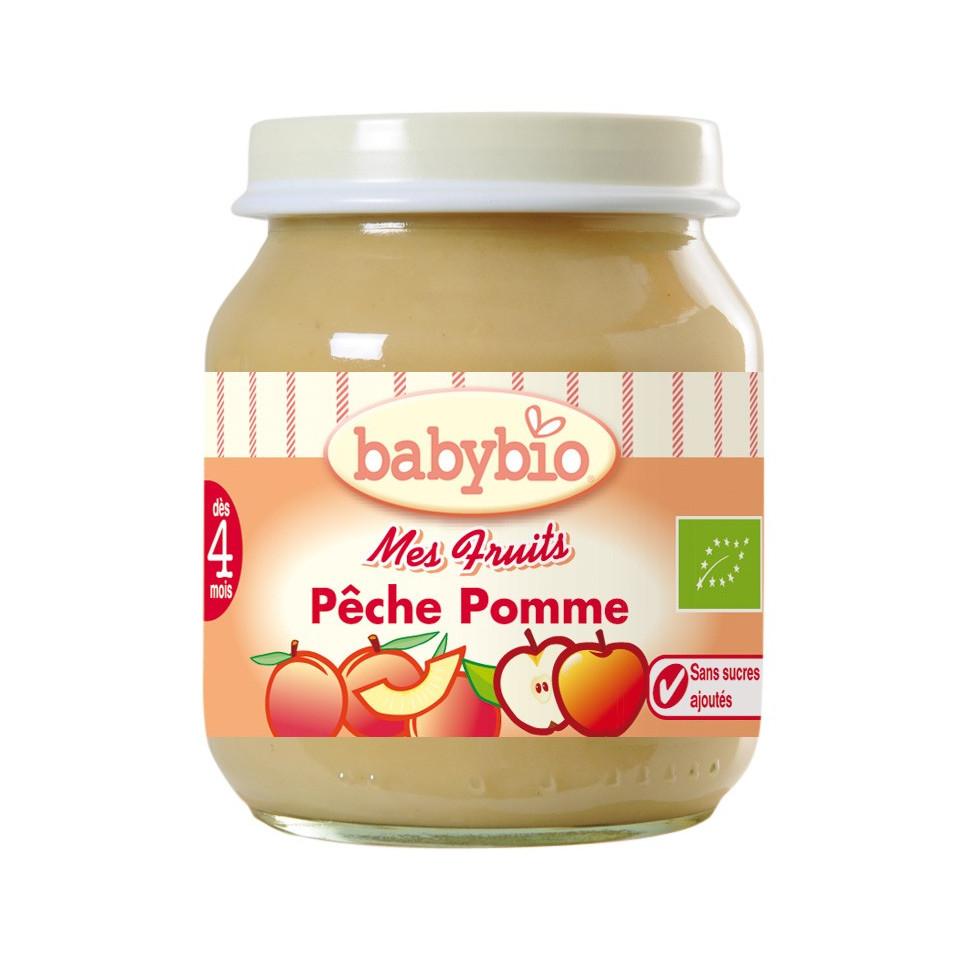 Petit Pot BABYBIO Pêche Pomme 130g +3mois