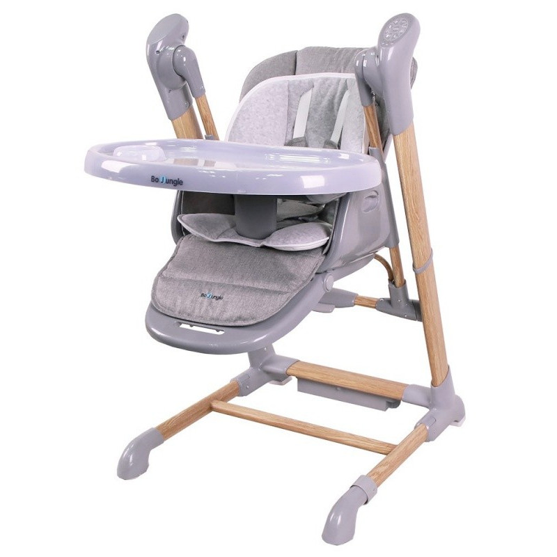 Chaise-haute avec fonction balancement BO JUNGLE