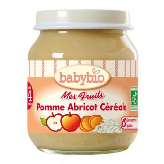 Petit Pot BABYBIO Pomme Abricot Céréales 130g +3mois