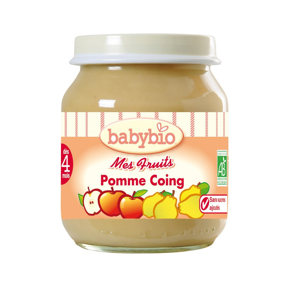 Petit Pot BABYBIO Pomme Coing 130g +3mois