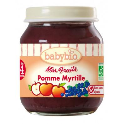 Petit Pot BABYBIO Pomme Myrtille 130g +3mois