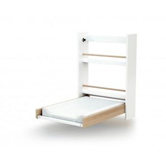Table à langer murale AT4 Blanc/Hêtre Brut