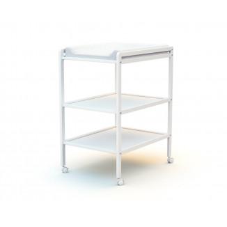Table à langer 2 étagères AT4 Blanc
