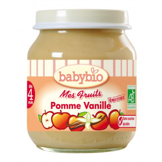 Petit Pot BABYBIO Pomme Vanille 130g +3mois