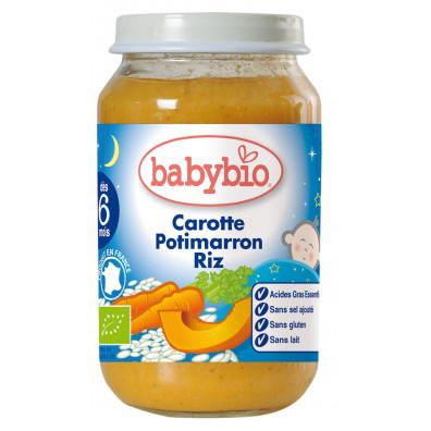 Petit Pot Bonne Nuit BABYBIO Carotte Potimarron Riz 200g +5mois