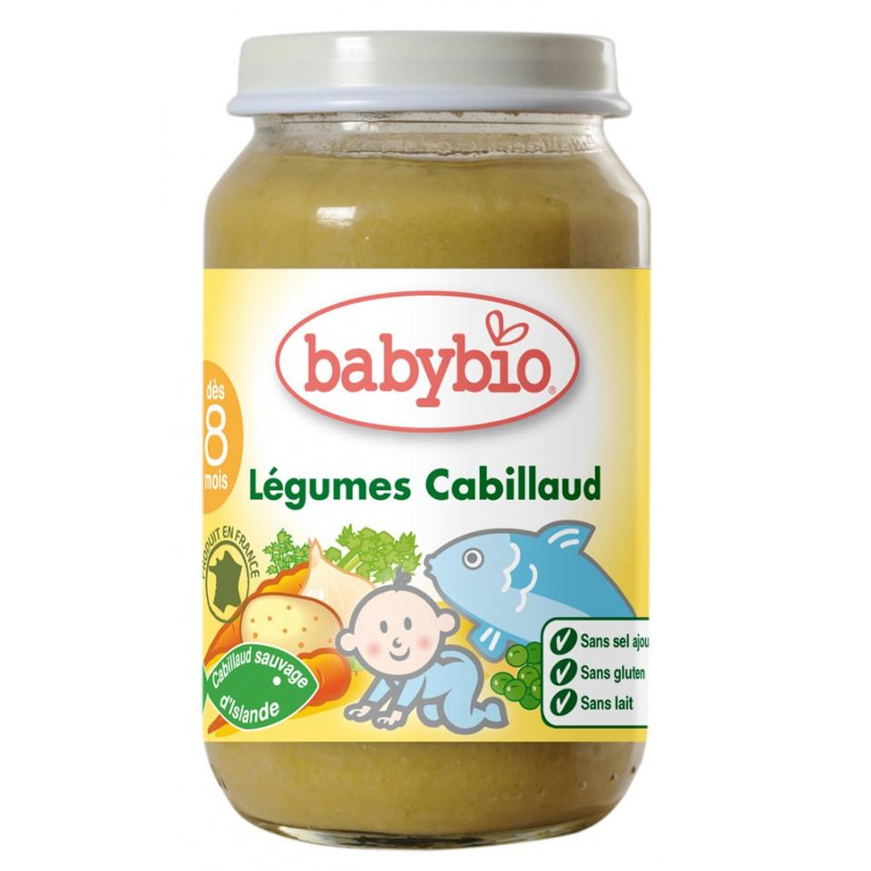 Petit Pot Menu BABYBIO Légumes Cabillaud 200g +7mois