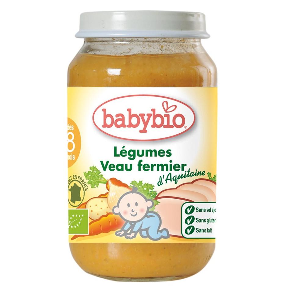 Petit Pot Menu BABYBIO Veau Fermier Légumes 200g +7mois
