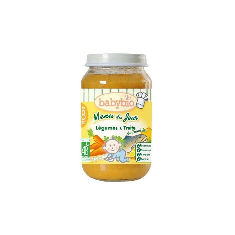 Petit Pot Menu BABYBIO Légumes Truite du Grand Lac 200g +7mois