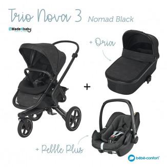 Trio Nova 3 Oria et Pebble Plus BEBE CONFORT Nomad black