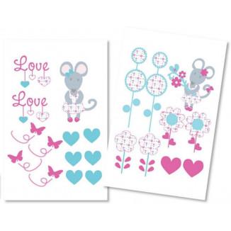 Stickers décoration LES CHATOUNETS Jolie souris