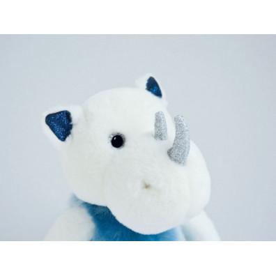 """Peluche Rhinou le rhinocéros 25cm """"Les Petits Twist"""" HISTOIRE D'OURS Bleu"""