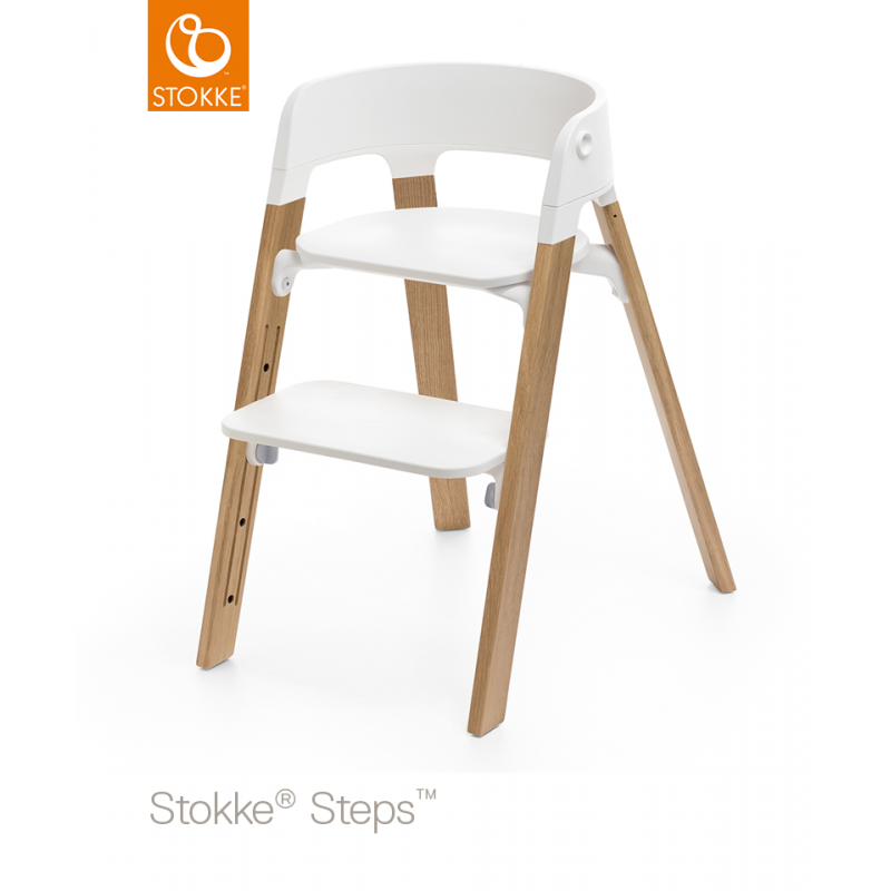 chaise haute steps stokke ch ne naturel drive made4baby balaruc. Black Bedroom Furniture Sets. Home Design Ideas