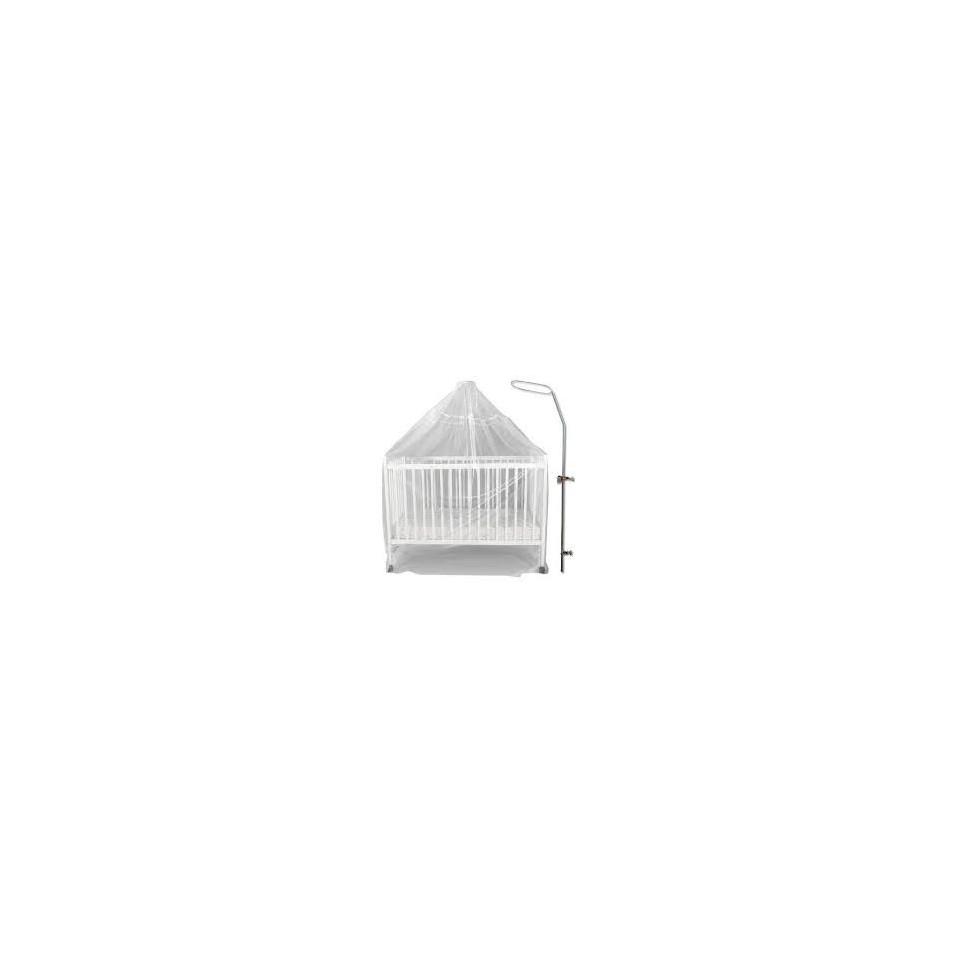 fleche de lit ronde metal blanc bambisol - Fleche De Lit