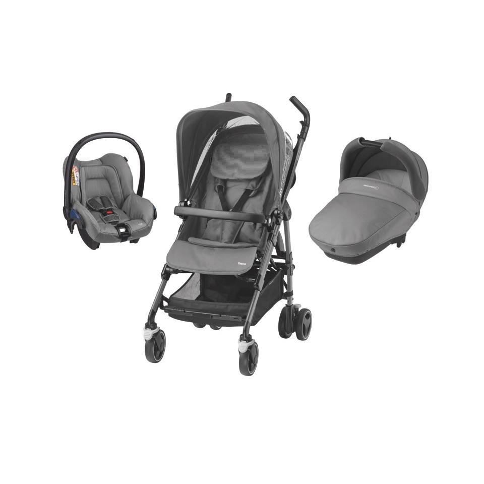 poussette trio dana bebe confort concrete grey drive. Black Bedroom Furniture Sets. Home Design Ideas