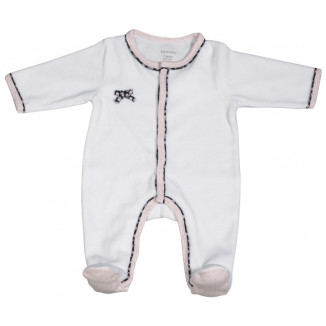 2b60b051de33c Pyjama blanc 3mois SAUTHON Miss Chipie ...