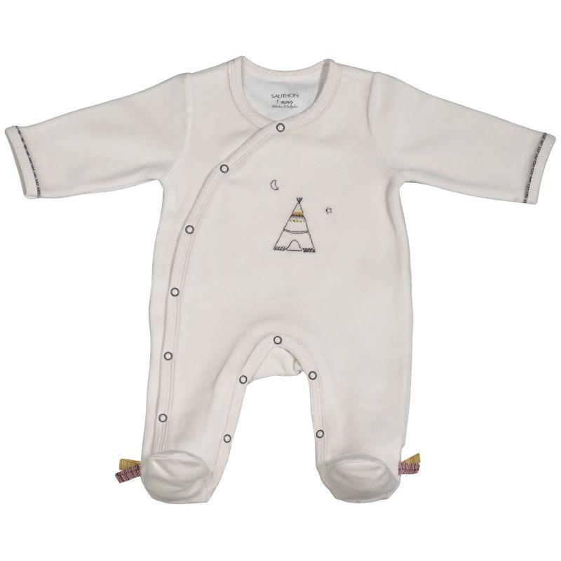 Pyjama beige naissance SAUTHON Timouki - Drive Made4baby Béziers b2005538d0a
