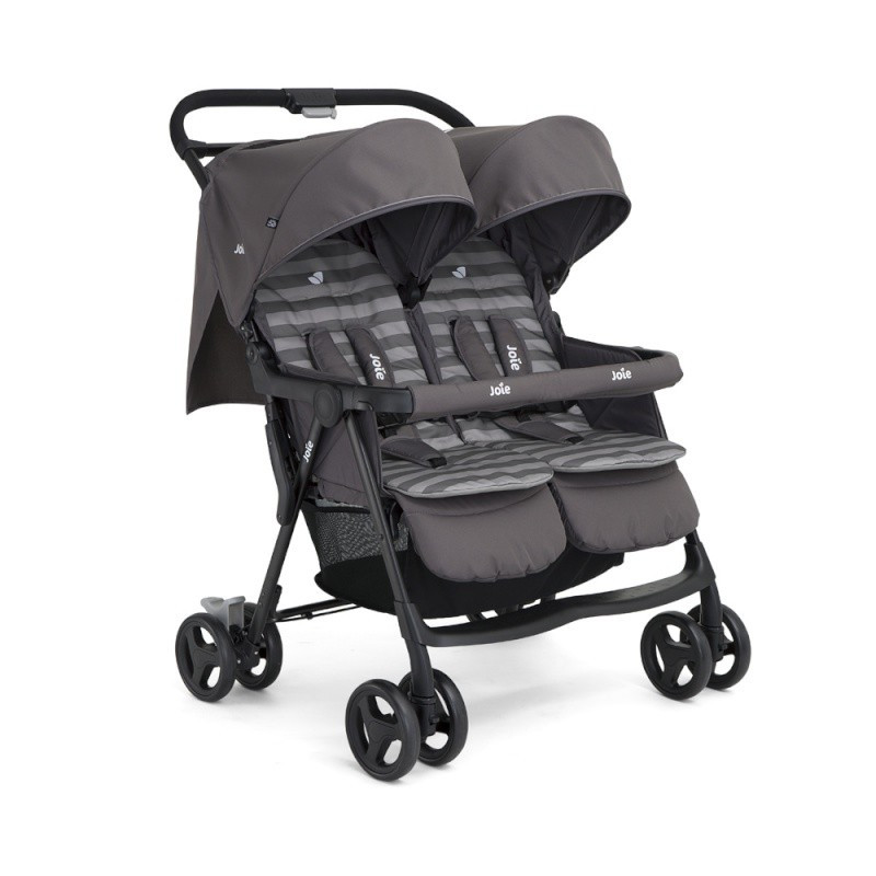 poussette double aire twin joie dark pewter drive made4baby b ziers. Black Bedroom Furniture Sets. Home Design Ideas