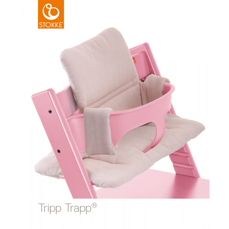 Coussin De Chaise Tripp Trapp Stokke Pink Tweed Drive Made4baby