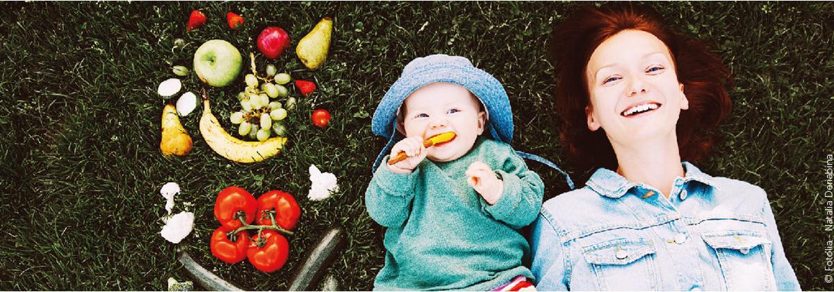Le repas de bébé en extérieur