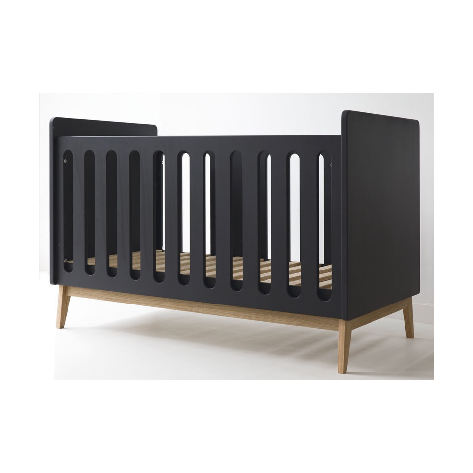 Lit Bebe 70x140 Pericles Pure Noir Made4baby Lannion