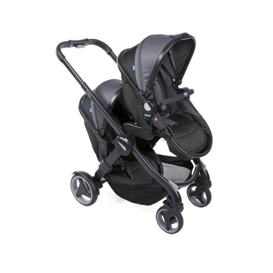 00a569aa3ed179 Poussette Double Fully Twin CHICCO Stone - Made4baby Perols