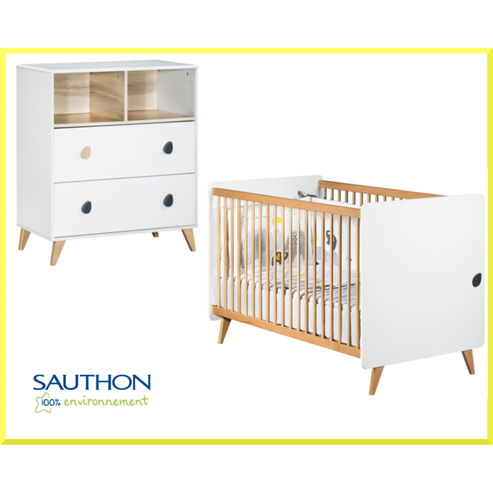 chambre duo oslo avec lit 70x140 sauthon - Lit Sauthon