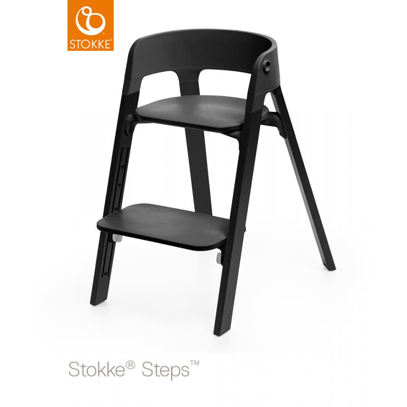 Chaise Haute StepsTM STOKKER Noire Chene Noir